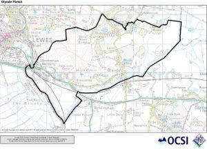 Map of Glynde Parish Boundary