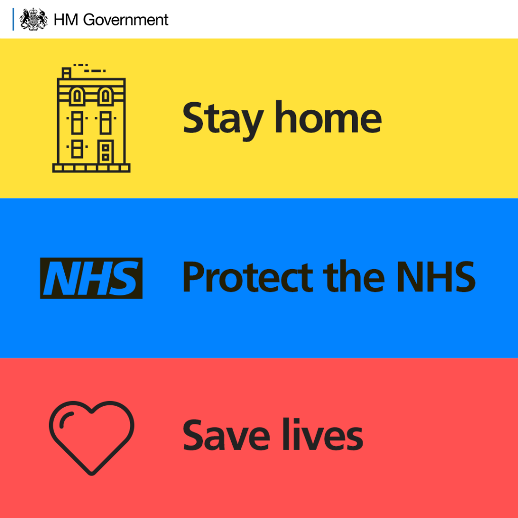 Poster: Stay home, protect the NHS, Save Lives