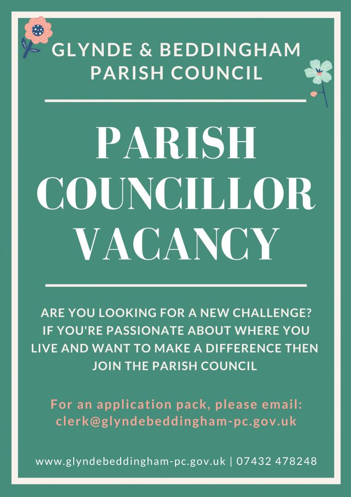 Advertisement for a Parish Councillor Vacancy